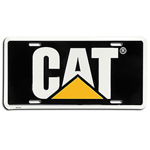 Picture of CAT License Plate - Black