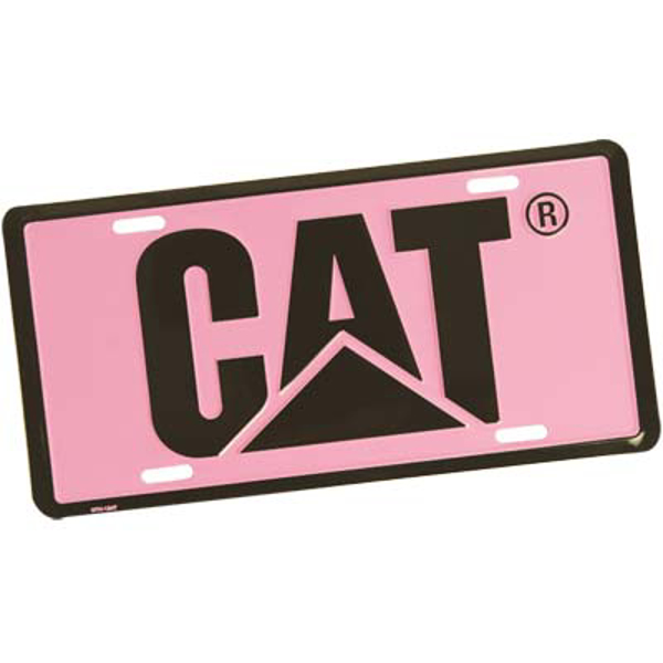 Picture of CAT License Plate - Pink/Black