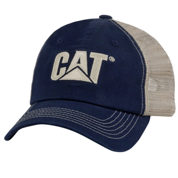 Picture of CAT Navy/Stone Twill Mesh Cap