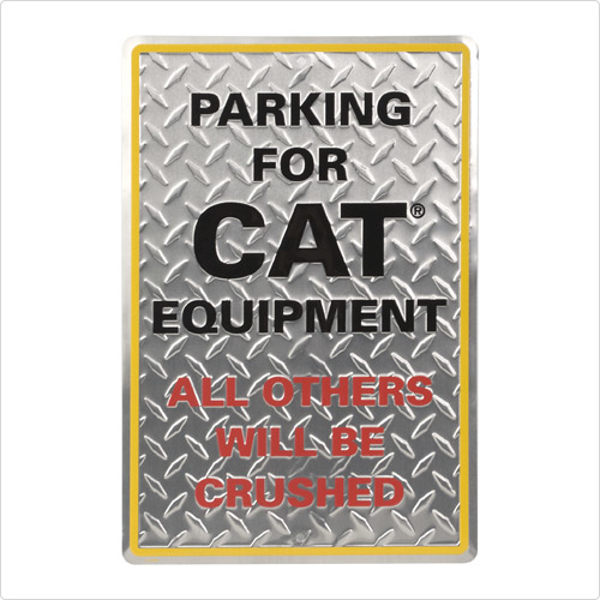 Picture of Diamond Plate Parking Sign
