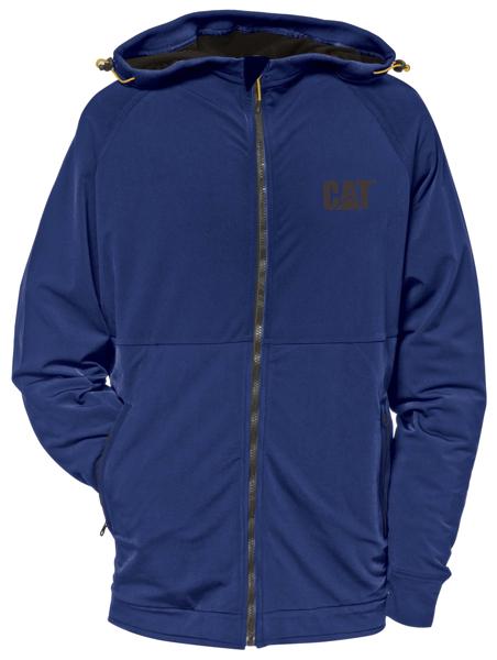 Picture of Vintage Blue Contour Zip Up Sweatshirt