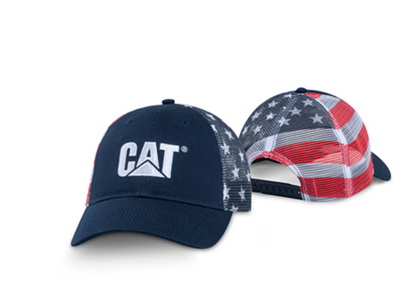 Picture of Navy American Flag Mesh Cap