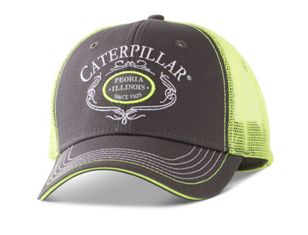 Picture of Charcoal and Lime Peoria Script Cap