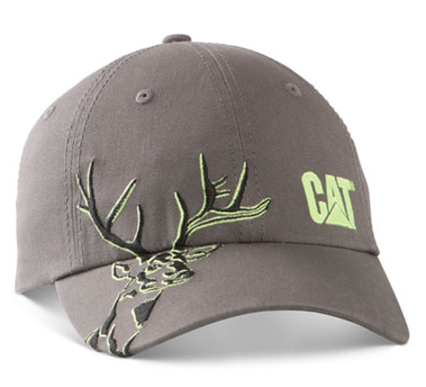 Picture of Grey Embroidered Buck Cap